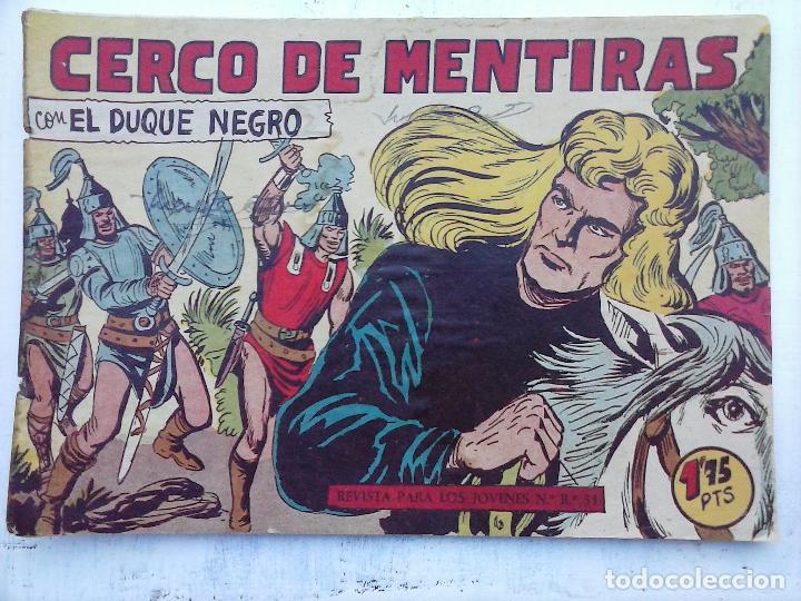 Tebeos: EL DUQUE NEGRO ORIGINAL COMPLETA 1 AL 42 MAGA 1958 - JOSÉ ORTIZ - MANUEL GAGO - VER PORTADAS - Foto 119 - 105055615