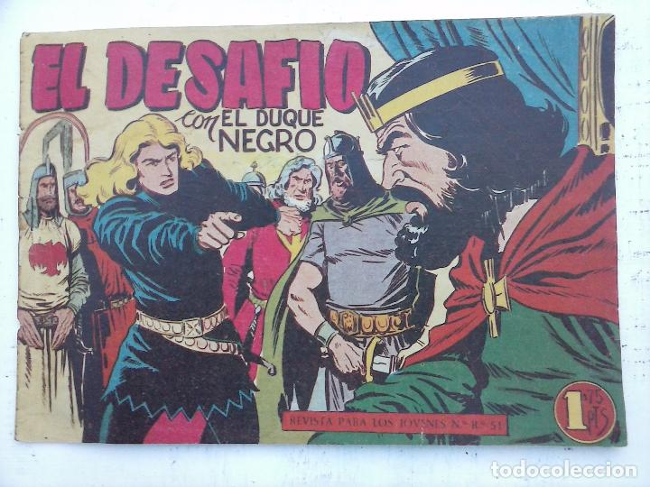 Tebeos: EL DUQUE NEGRO ORIGINAL COMPLETA 1 AL 42 MAGA 1958 - JOSÉ ORTIZ - MANUEL GAGO - VER PORTADAS - Foto 120 - 105055615