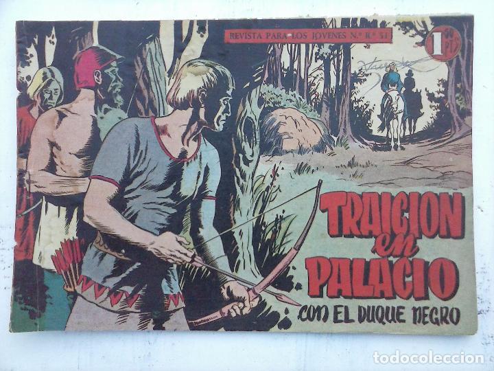 Tebeos: EL DUQUE NEGRO ORIGINAL COMPLETA 1 AL 42 MAGA 1958 - JOSÉ ORTIZ - MANUEL GAGO - VER PORTADAS - Foto 123 - 105055615