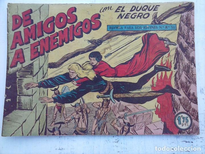 Tebeos: EL DUQUE NEGRO ORIGINAL COMPLETA 1 AL 42 MAGA 1958 - JOSÉ ORTIZ - MANUEL GAGO - VER PORTADAS - Foto 124 - 105055615