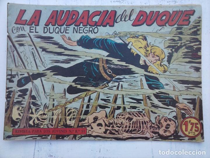 Tebeos: EL DUQUE NEGRO ORIGINAL COMPLETA 1 AL 42 MAGA 1958 - JOSÉ ORTIZ - MANUEL GAGO - VER PORTADAS - Foto 127 - 105055615