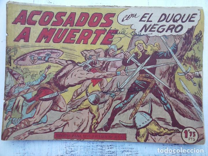 Tebeos: EL DUQUE NEGRO ORIGINAL COMPLETA 1 AL 42 MAGA 1958 - JOSÉ ORTIZ - MANUEL GAGO - VER PORTADAS - Foto 128 - 105055615