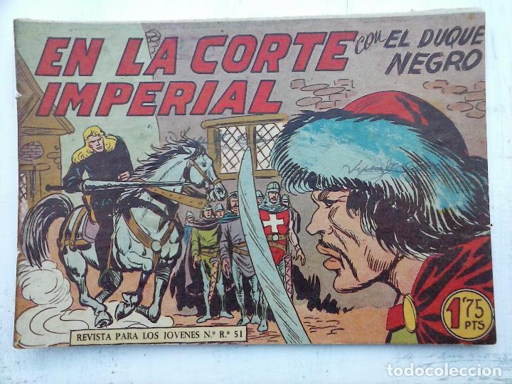 Tebeos: EL DUQUE NEGRO ORIGINAL COMPLETA 1 AL 42 MAGA 1958 - JOSÉ ORTIZ - MANUEL GAGO - VER PORTADAS - Foto 129 - 105055615