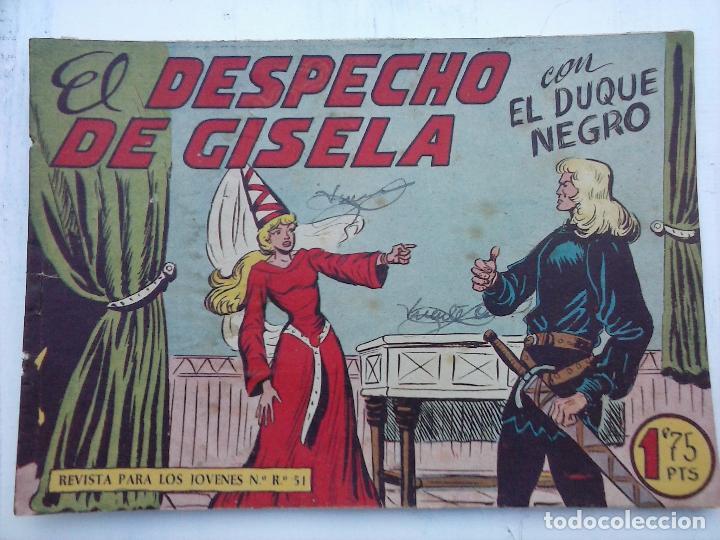Tebeos: EL DUQUE NEGRO ORIGINAL COMPLETA 1 AL 42 MAGA 1958 - JOSÉ ORTIZ - MANUEL GAGO - VER PORTADAS - Foto 134 - 105055615
