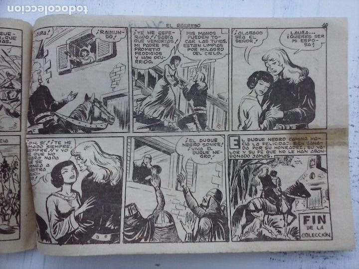 Tebeos: EL DUQUE NEGRO ORIGINAL COMPLETA 1 AL 42 MAGA 1958 - JOSÉ ORTIZ - MANUEL GAGO - VER PORTADAS - Foto 151 - 105055615