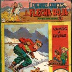 Tebeos: LEYENDAS GRAFICAS MAGA - FLECHA ROJA Nº 49 - CON JUEGO EN CONTRAPORTADA Y FOLLETO EL GRAN CAZADOR. Lote 105769107