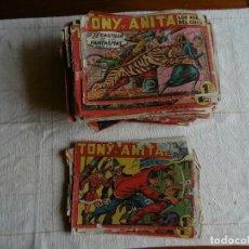 Giornalini: LOTE DE TONY Y ANITA 120 TEBEOS ED. MAGA ORIGINALES CONTIENE Nº1 AÑOS 50. Lote 107320655