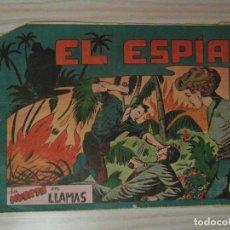 Tebeos: LA MUERTE EN LLAMAS. Nº 23 DE EL ESPIA. MAGA. 1953. GUIONISTA PABLO GAGO. Lote 107943575