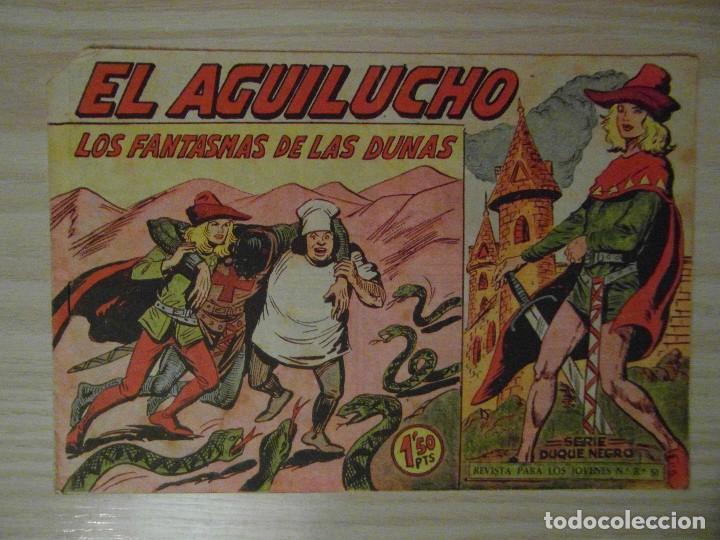LOS FANTASMAS DE LAS DUNAS. Nº 51 DE EL AGUILUCHO DE LA LINEA SERIE DUQUE NEGRO.MAGA.1960.M. GAGO (Tebeos y Comics - Maga - Otros)