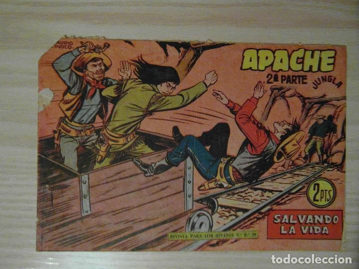 SALVANDO LA VIDA. Nº 66 DE APACHE 2ª PARTE DE LA LINEA SERIE JUNGLA. MAGA. 1961.CLAUDIO TINOCO (Tebeos y Comics - Maga - Apache)