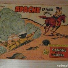 Tebeos: SANGRE EN LA PRADERA. Nº 73 DE APACHE 2ª PARTE DE LA LINEA SERIE JUNGLA. MAGA. 1961.CLAUDIO TINOCO. Lote 108062035