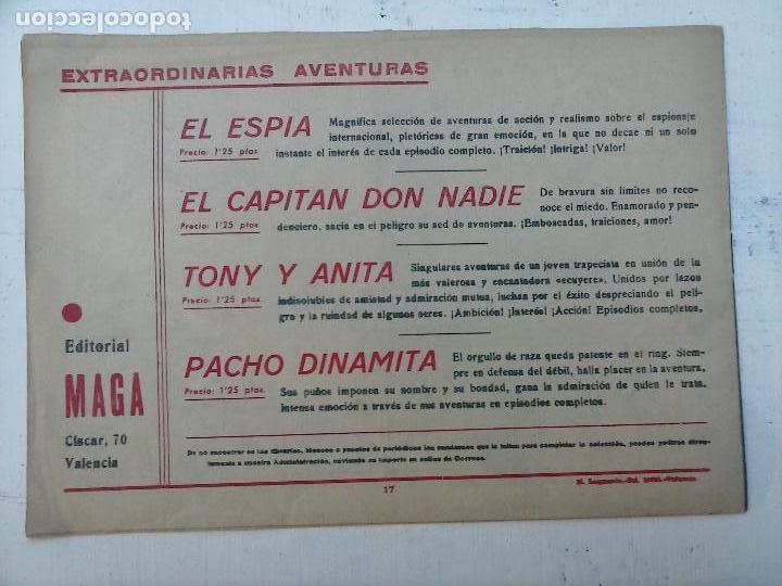 Tebeos: EL ESPIA ORIGINAL Nº 17 - EDI. MAGA - ORTIZ - Foto 5 - 108125591