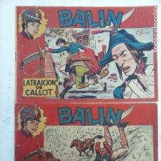 Tebeos: BALIN ORIGINALES NºS 4 Y 13 - JOSÉ ORTÍZ - EDI. MAGA 1955. Lote 108375367