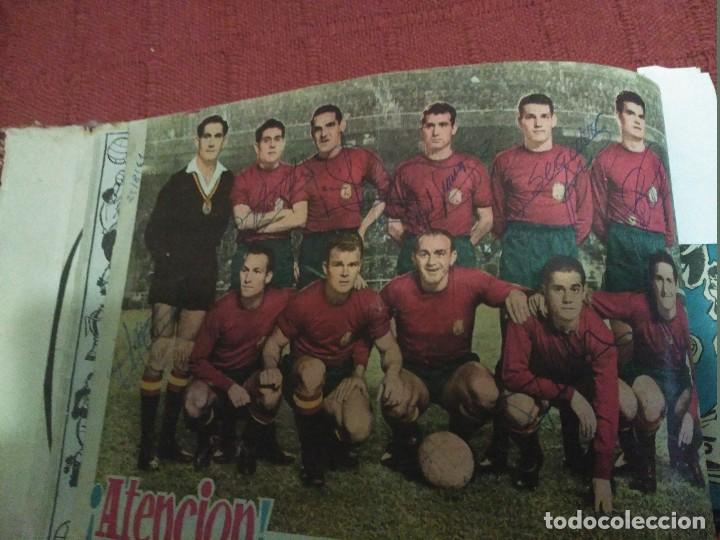 Tebeos: Excepcional 41 ejemplares encuadernados de oliman.autografos originales de jugadores de la seleccion - Foto 3 - 108690587