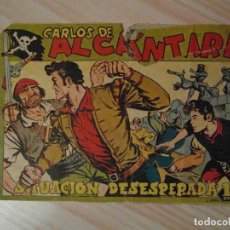 Tebeos: SITUACION DESESPERADA. Nº 27 DE CARLOS ALCANTARA. EDITORIAL MAGA. 1956. L. ORTIZ. Lote 129354170