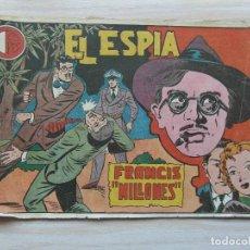 Tebeos: FRANCIS MILLONES. Nº 13 DE EL ESPIA. EDITORIAL MAGA. 1952. PABLO GAGO. Lote 109169263