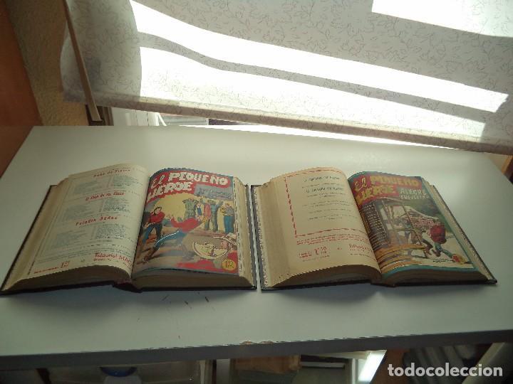 Tebeos: El Pequeño Héroe, Año 1.956. Colección Completa de 120 Tebeos Originales Encuadernada en 2 Tomos - Foto 3 - 110010731