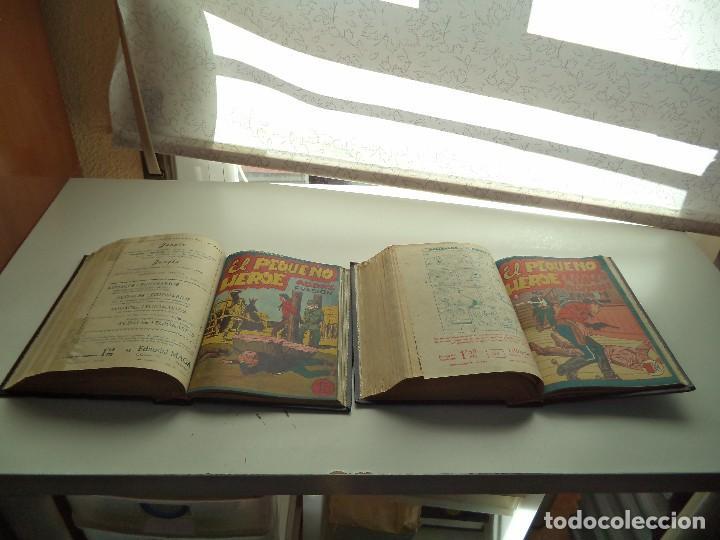 Tebeos: El Pequeño Héroe, Año 1.956. Colección Completa de 120 Tebeos Originales Encuadernada en 2 Tomos - Foto 4 - 110010731