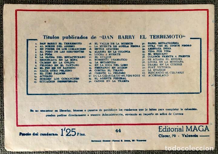 Tebeos: DAN BARRY EL TERREMOTO NUMERO 44. ORIGINAL. EDITORIAL MAGA - Foto 4 - 110100011