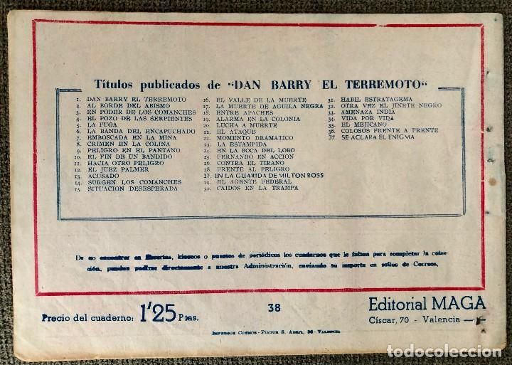 Tebeos: DAN BARRY EL TERREMOTO NUMERO 38. ORIGINAL. EDITORIAL MAGA - Foto 4 - 110100387