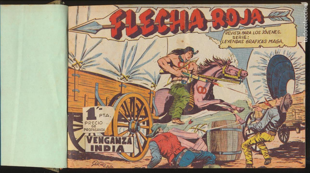 FLECHA ROJA. MAGA 1962. COMPLETA 79 EJEMPLARES ENCUADERNADOS EN UN TOMO. (Tebeos y Comics - Maga - Flecha Roja)
