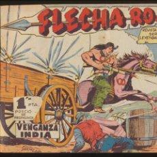 Tebeos: FLECHA ROJA. MAGA 1962. COMPLETA 79 EJEMPLARES ENCUADERNADOS EN UN TOMO.. Lote 112775179
