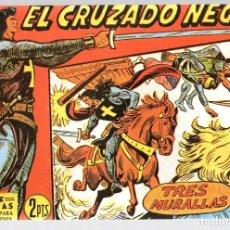 Tebeos: EL CRUZADO NEGRO. TRES MURALLAS. SERIE ATLETAS. Nº 36. EDITORIAL MAGA, REEDICION. Lote 113567622