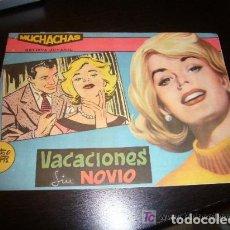 Tebeos: TEBEO COMIC REVISTA JUVENIL MUCHACHAS VACACIONES SIN NOVIO EDITORIAL MAGA 1960 ORIGINAL. Lote 115035771