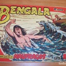 Tebeos: ORIGINAL - BENGALA - NUMERO: II - 21: NAÚFRAGOS EN UNA BALSA. Lote 115129887