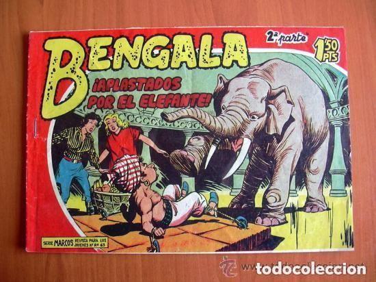 BENGALA 2ª, Nº 5 APLASTADOS POR EL ELEFANTE - EDITORIAL MAGA 1960 (Tebeos y Comics - Maga - Bengala)