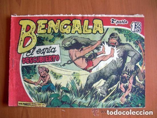 BENGALA 2ª, Nº 10 EL ESPIA DESCUBIERTO - EDITORIAL MAGA 1960 (Tebeos y Comics - Maga - Bengala)