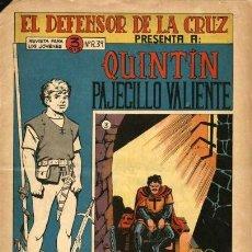Tebeos: QUINTIN PAJECILLO VALIENTE-3 (MAGA, 1965) DE GIGARPE. Lote 121871095