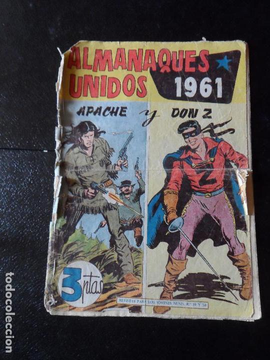 ALMANAQUES UNIDOS - APACHE Y DON Z - 1961 EDITORIAL MAGA ORIGINAL (Tebeos y Comics - Maga - Don Z)