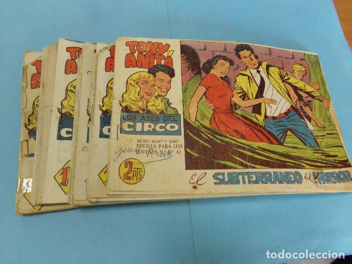 37 TEBEOS, TONY Y ANITA 2º PARTE,HAY 7 LOMO ESTROPEADO, (Tebeos y Comics - Maga - Tony y Anita)