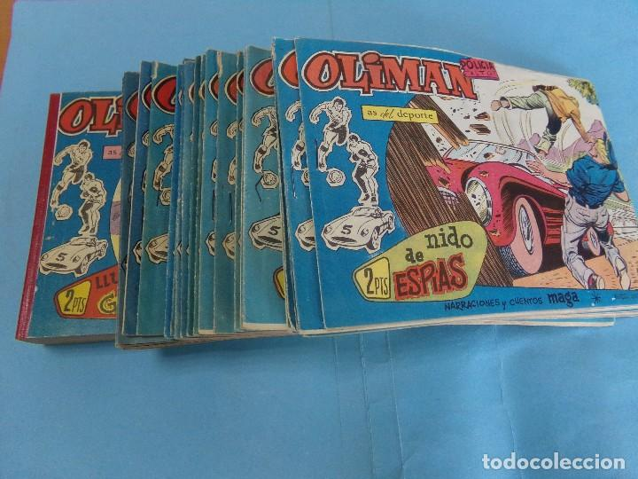 88 TEBEOS DE OLIMAN,ORIGINALES DEL 1 AL 41 ESTA ENCUADERNADOS (Tebeos y Comics - Maga - Oliman)