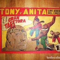 Tebeos: TONY Y ANITA : LOS ASES DEL CIRCO. Nº 61 : EL GRAN TAKETORA. - VALENCIA : MAGA, [CA. 1952]. Lote 122548023