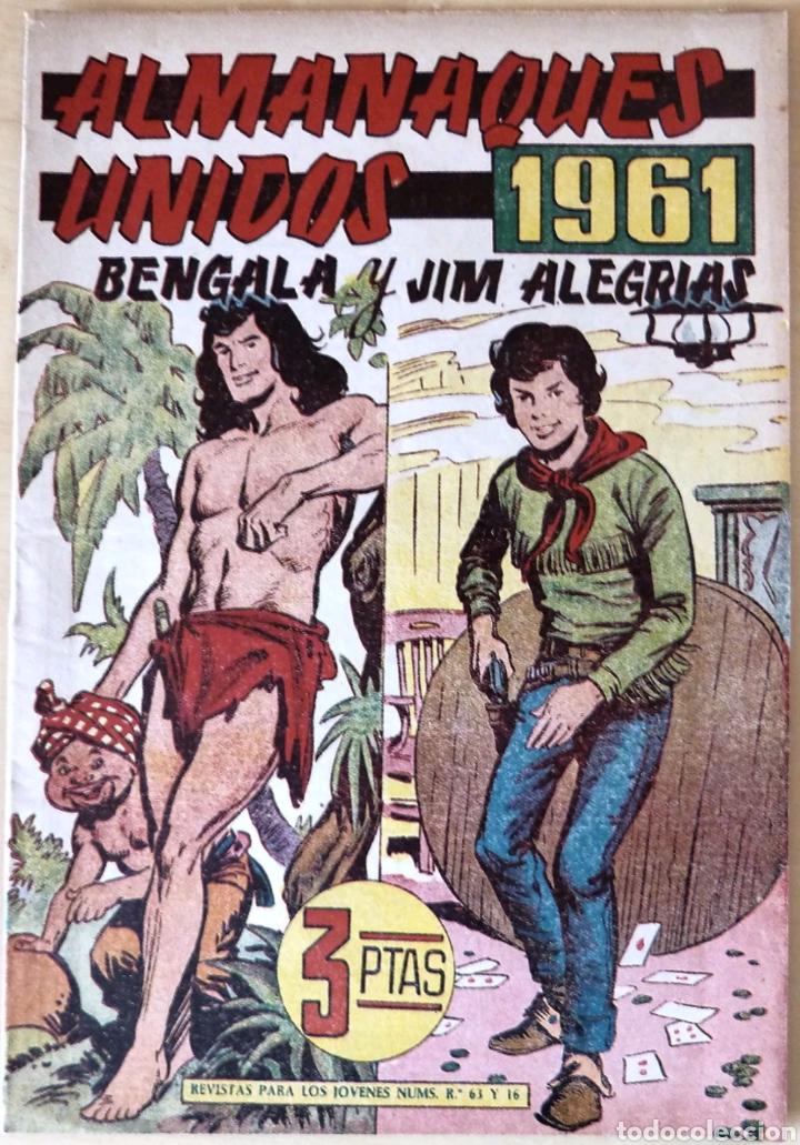 ALMANAQUE BENGALA Y JIM ALEGRIAS 1961 (Tebeos y Comics - Maga - Bengala)