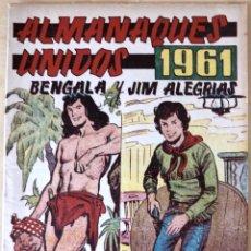 Tebeos: ALMANAQUE BENGALA Y JIM ALEGRIAS 1961. Lote 124916268