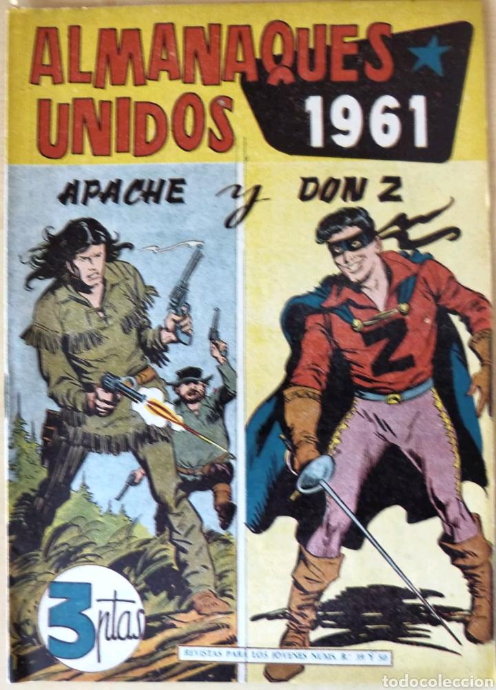 COMIC ALMANAQUES UNIDOS APACHE Y DON Z 1961 (Tebeos y Comics - Maga - Don Z)