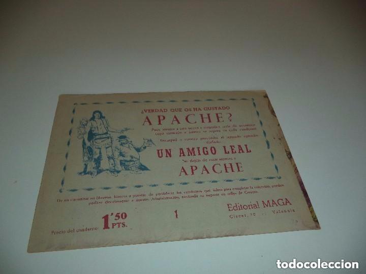 Tebeos: Apache, Año 1.956, Nº 1. Original. Dibujante L. Bermejo. Estado Nuevo ver las Fotos - Foto 2 - 127036139