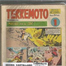 Tebeos: TERREMOTO PRESENTA MARCADO POR EL ODIO COMPLETA. Lote 128607695