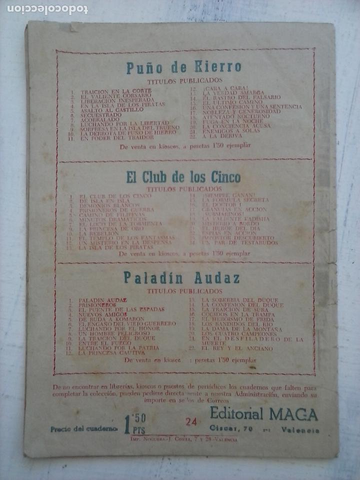 Tebeos: EL PEQUEÑO HÉROE original nº 24 edi. MAGA - Foto 3 - 129078847