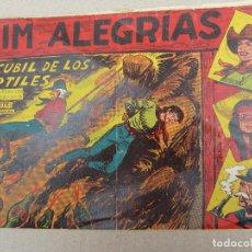 Tebeos: JIM ALEGRIAS , N.5 , EL CUBIL DE LOS REPTILES , MAGA 1960. Lote 130537302