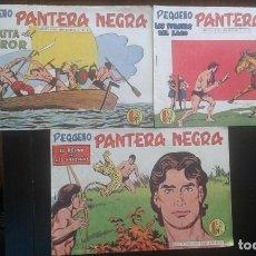 Tebeos: LOTE 3 TEBEO / CÓMIC ORIGINAL PEQUEÑO PANTERA NEGRA N 178-179-180 MAGA1958. Lote 131113044