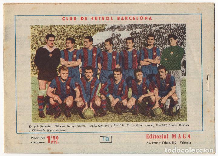 Tebeos: OLIMAN nº 18 Contraportada C.F. Barcelona y nº 7 Contraportada Real Sociedad (Maga 1961/64) - Foto 3 - 131547750
