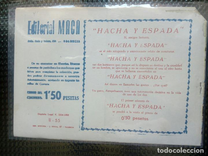 Tebeos: APACHE Nº 55 - ORIGINAL- EDT. MAGA 1955 ( M-5) - Foto 2 - 131728870
