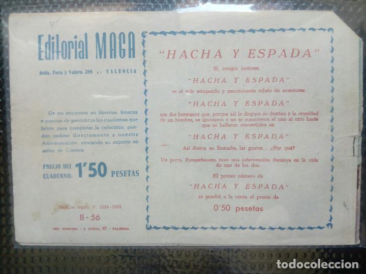 Tebeos: APACHE Nº 56 - ORIGINAL- EDT. MAGA 1955 ( M-5) - Foto 2 - 131729642