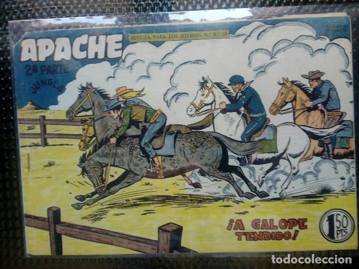 APACHE Nº 63 - ORIGINAL- EDT. MAGA 1955 ( M-5) (Tebeos y Comics - Maga - Apache)