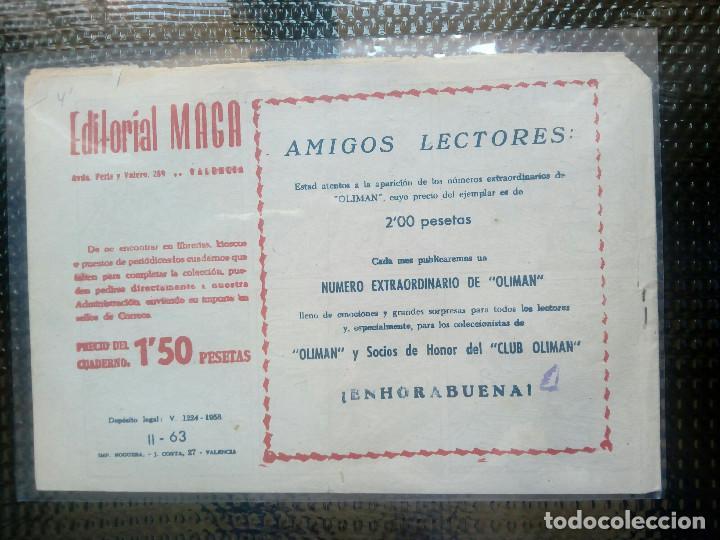 Tebeos: APACHE Nº 63 - ORIGINAL- EDT. MAGA 1955 ( M-5) - Foto 2 - 131732994
