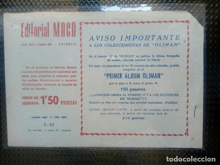 Tebeos: APACHE Nº 65 - ORIGINAL- EDT. MAGA 1955 ( M-5) - Foto 2 - 131734178